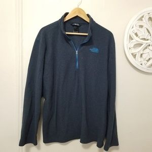 The north face size XL fleece half zip sweater
